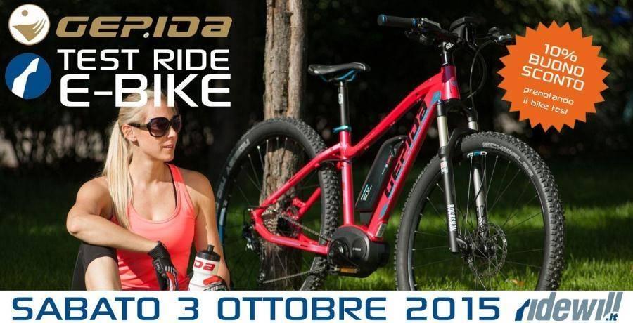 Ebike Test Ride - Bici elettriche Gepida - Iscriviti subito!